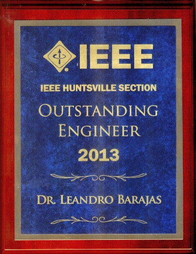 2013 IEEE Huntsville Section Outstanding Engineer Award - Plaque 400
